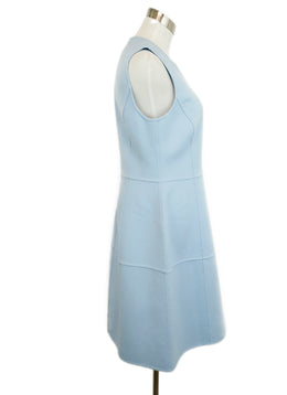 Michael Kors Blue Baby Blue Angora Sleeveless Dress 2