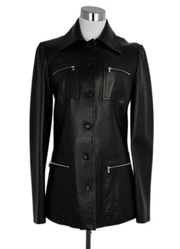 Michael Kors Black Leather Jacket 1