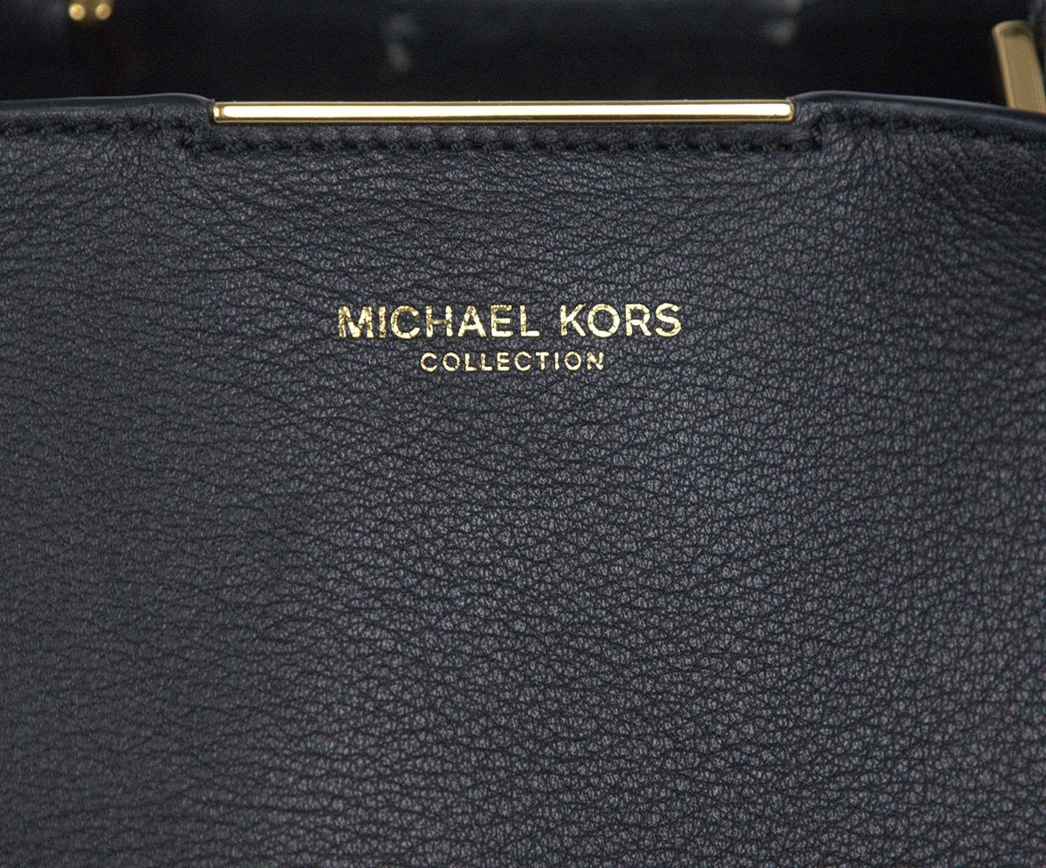 Michael Kors Black Leather Satchel  Handbag 7