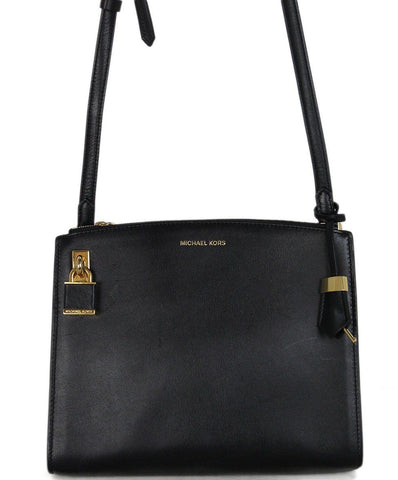 fc0e005d419e Michael Kors black leather shoulder bag 1 ...