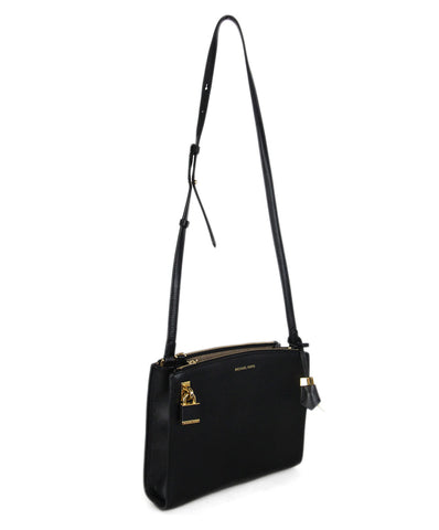 Michael Kors black leather shoulder bag 1