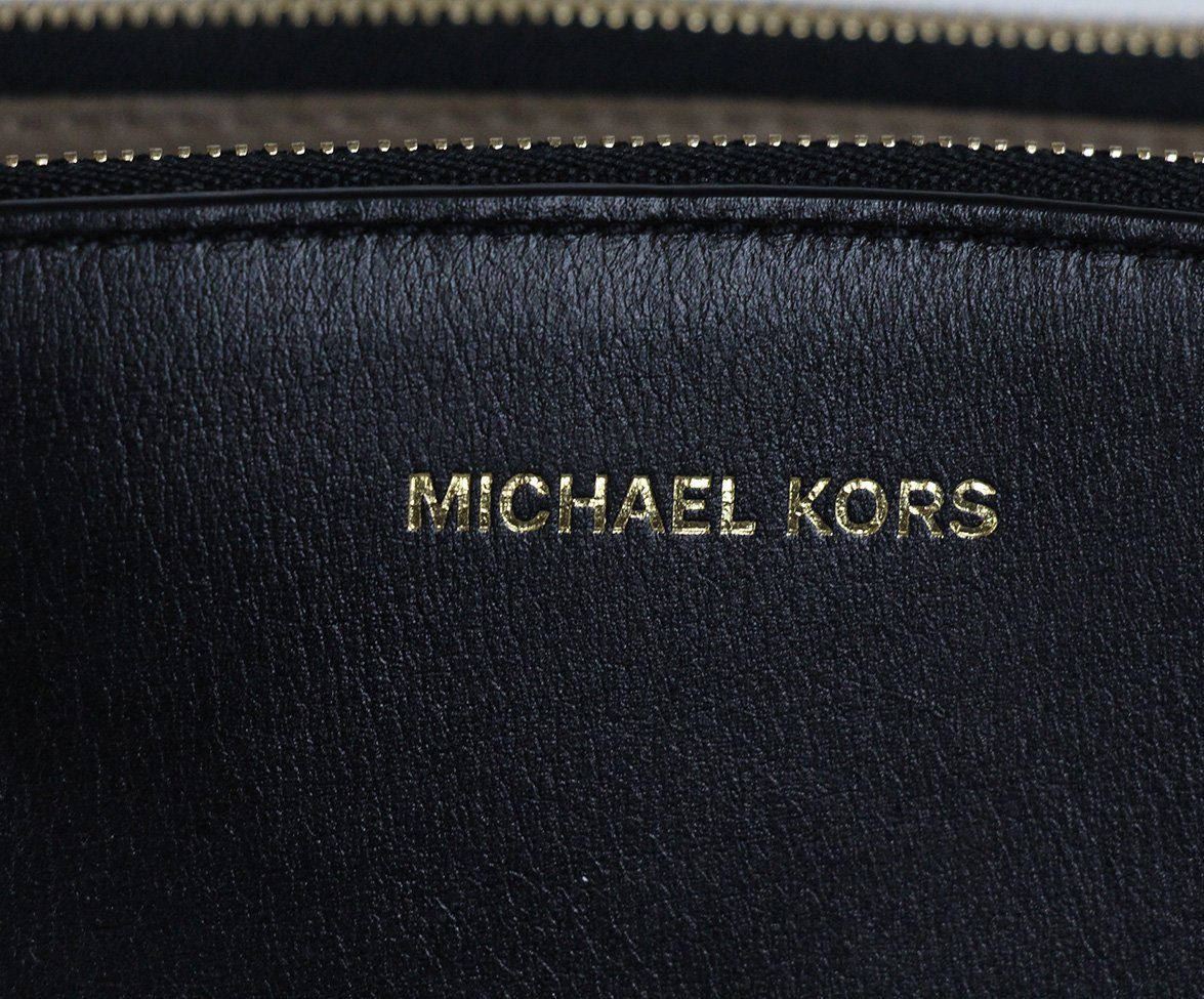 Michael Kors black leather shoulder bag 7