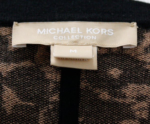 Michael Kors Black Nude Floral Knit  Sweater 3