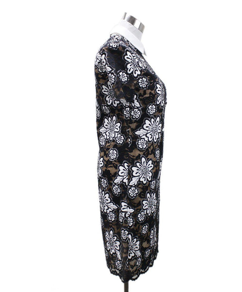 Michael Kors Size 0 Black White Floral Lace Dress