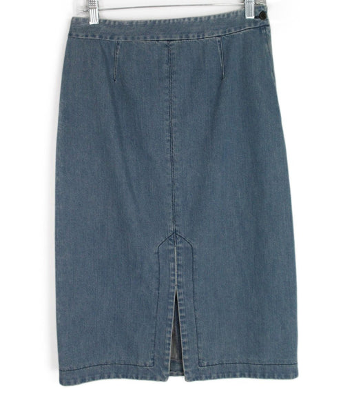 Michael Kors Blue Denim Skirt 1