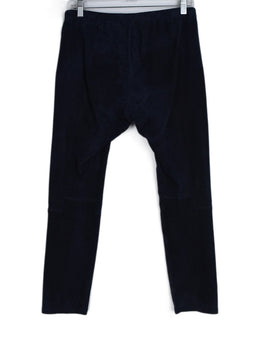 Michael Kors Blue Navy Suede Pants 2