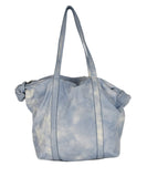 Michael Kors Blue White Leather Handbag 1