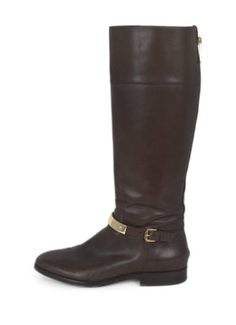 Michael Kors Brown Leather Boots 2