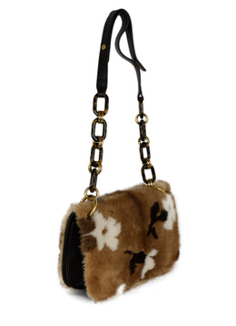 Michael Kors Brown Mink Leather Handbag 2
