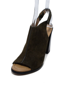 Michael Kors Brown Suede Peep Toe Heels 1