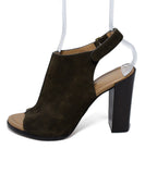 Michael Kors Brown Suede Peep Toe Heels 2