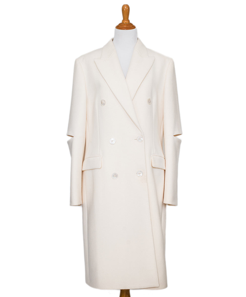 Michael Kors Ivory Wool Coat Sz 14 - Michael's Consignment NYC  - 1
