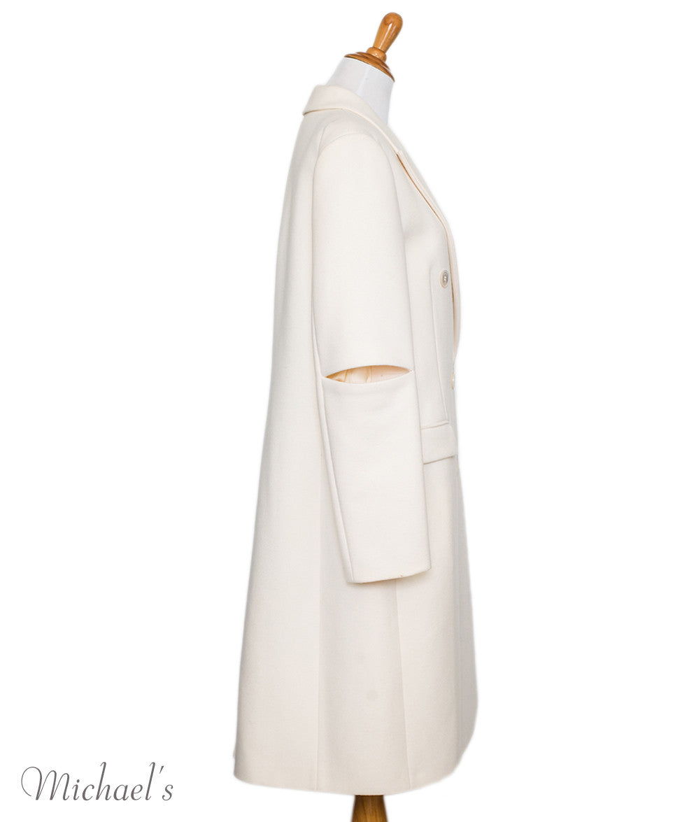 Michael Kors Ivory Wool Coat Sz 14 - Michael's Consignment NYC  - 2