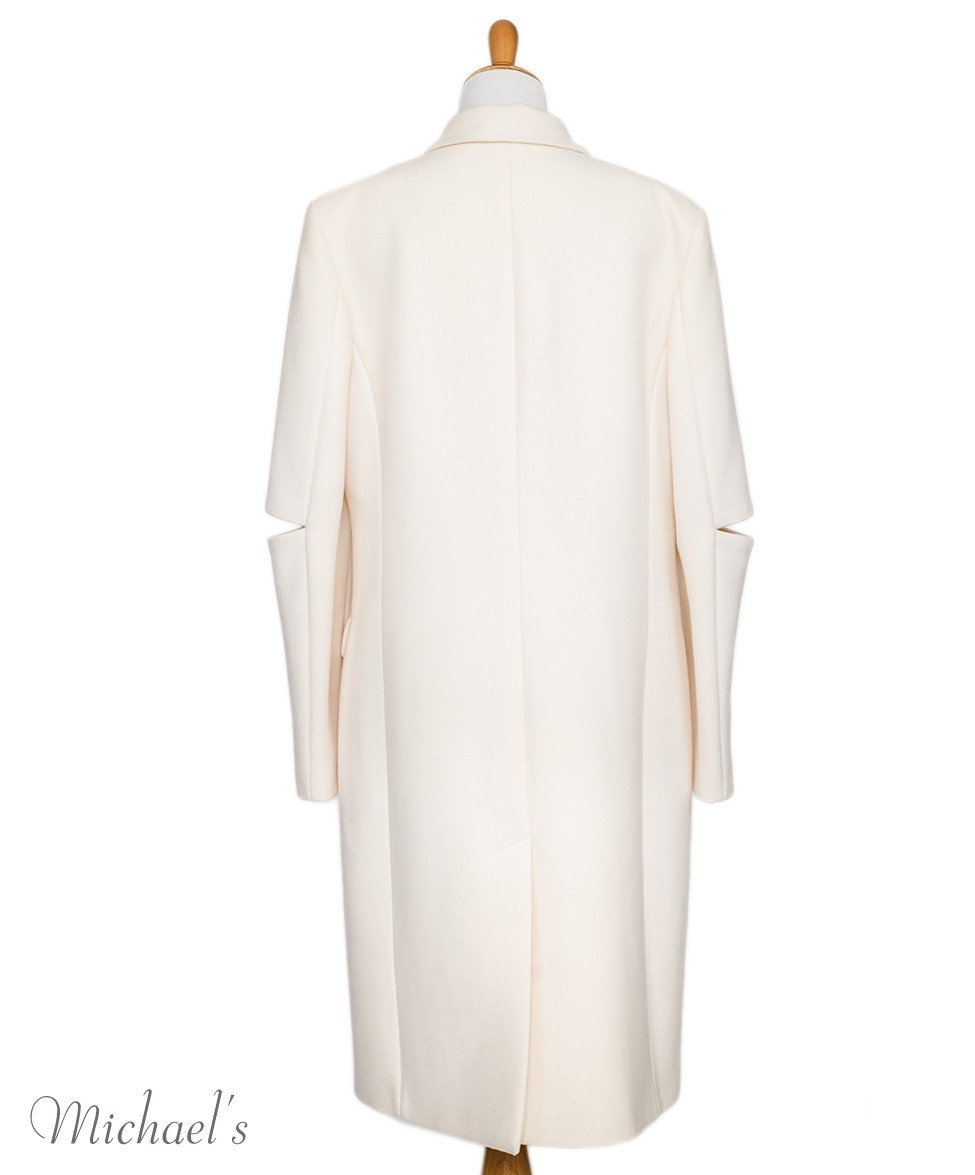 Michael Kors Ivory Wool Coat Sz 14 - Michael's Consignment NYC  - 3