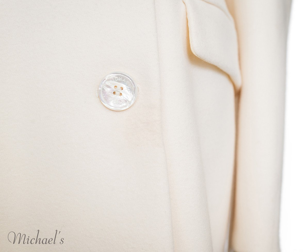 Michael Kors Ivory Wool Coat Sz 14 - Michael's Consignment NYC  - 7