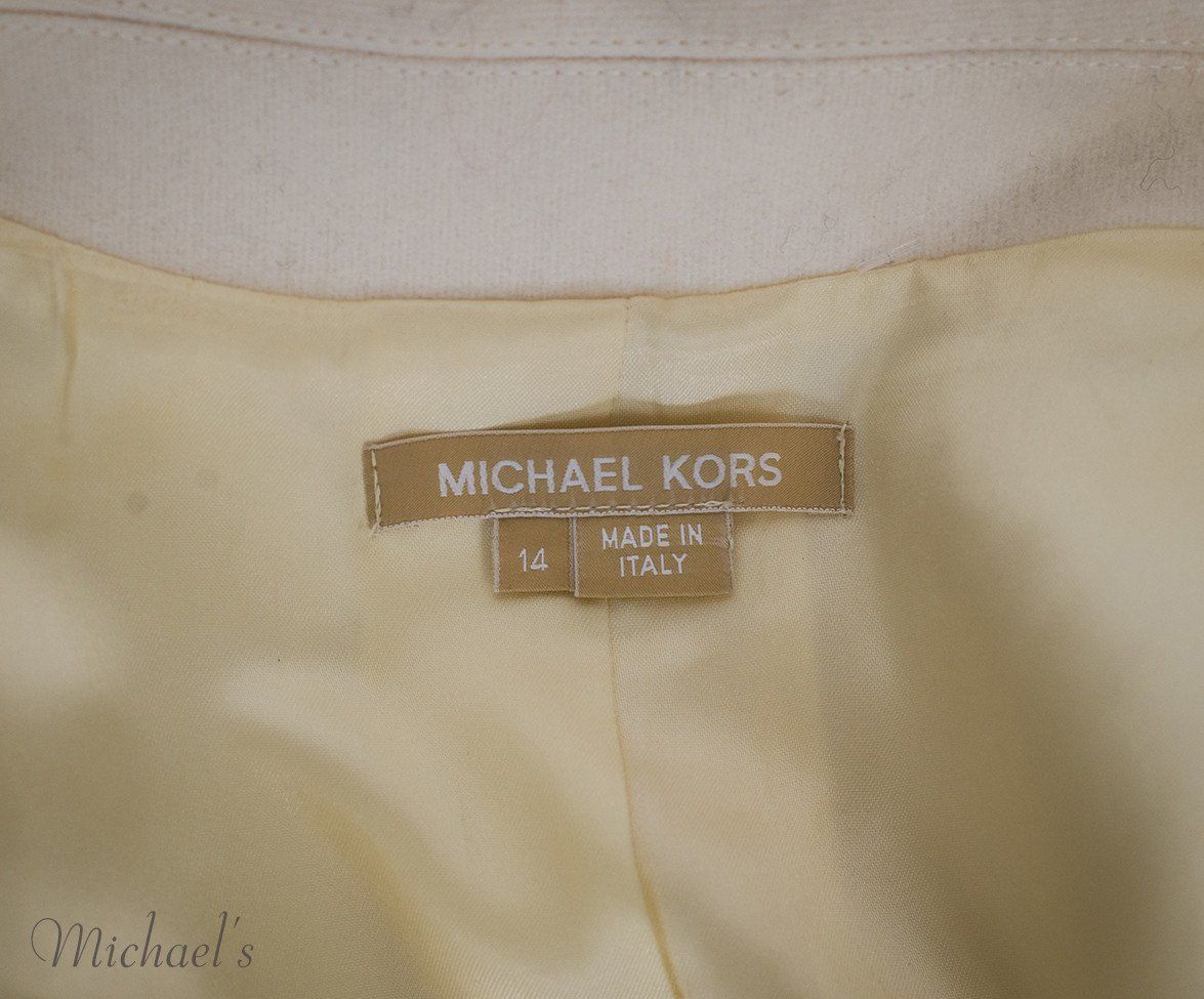 Michael Kors Ivory Wool Coat Sz 14 - Michael's Consignment NYC  - 9
