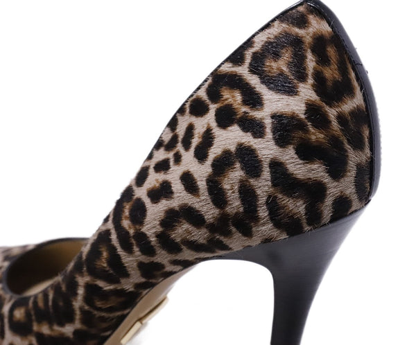Michael Kors Collection Leopard Fur Heels 7