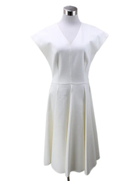 Michael Kors Neutral Ivory Silk Cotton Dress