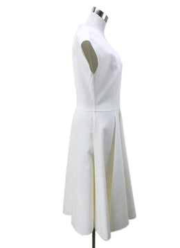 Michael Kors Neutral Ivory Silk Cotton Dress 1