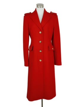 Michael Kors Red Cashmere Angora Blend Coat 3