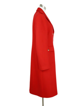 Michael Kors Red Cashmere Angora Blend Coat 1