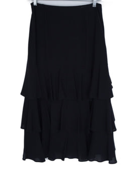 Michael Kors Black Silk Ruffle Tiered Skirt 2