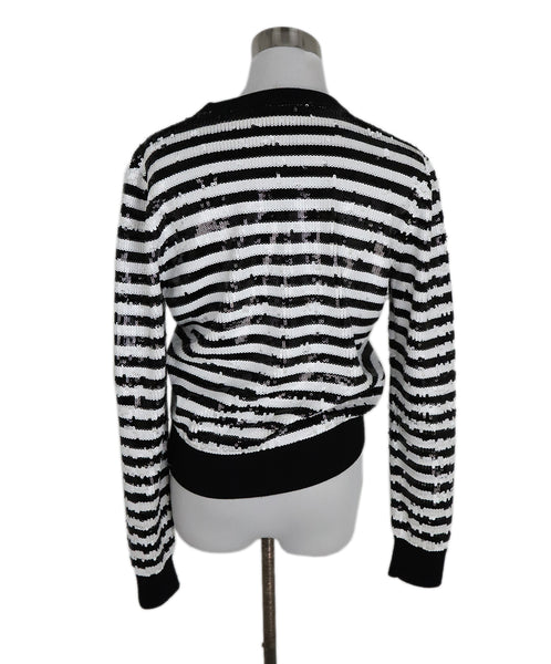 Michael Kors Black White Stripes Sequins Sweater 3