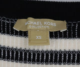 Michael Kors Black White Stripes Sequins Sweater 4