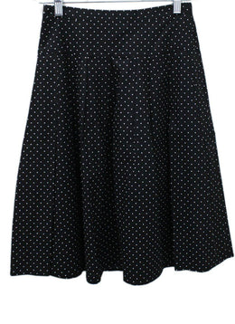 Michael Kors Black White Polka Dot Skirt