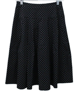 Michael Kors Black White Polka Dot Skirt 1
