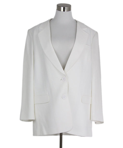 Michael Kors White Acetate Rayon Jacket 1