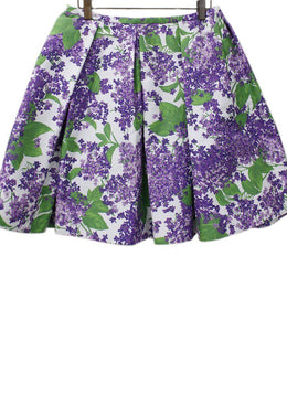 Michael Kors Purple Green Cotton Skirt