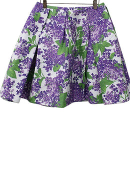 Michael Kors Purple Green Cotton Skirt 1
