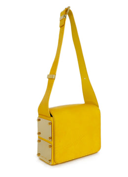 Michael Kors Yellow Mustard Leather Shoulder Handbag 2