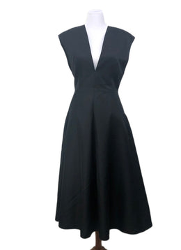 Long Michael Kors Size 8 Black Wool Silk Dress