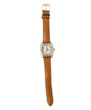 Michele Metallic Stainless Steel Diamond Brown Strap Watch 1