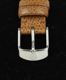 Michele Metallic Stainless Steel Diamond Brown Strap Watch 5