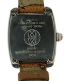 Michele Metallic Stainless Steel Diamond Brown Strap Watch 3