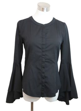 Milly Black Cotton Blouse 1