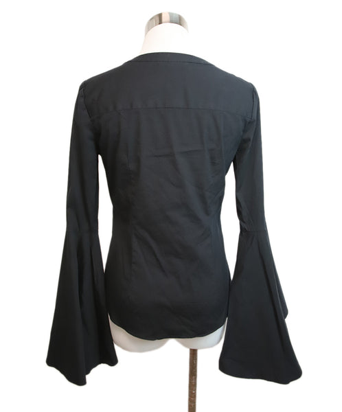 Milly Black Cotton Blouse 3
