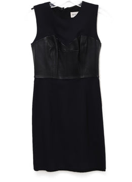 Milly Black Polyamide Corset Dress