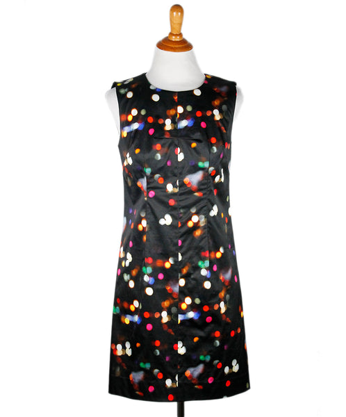 Milly Black Multi-color Polka Dot Dress Sz 2