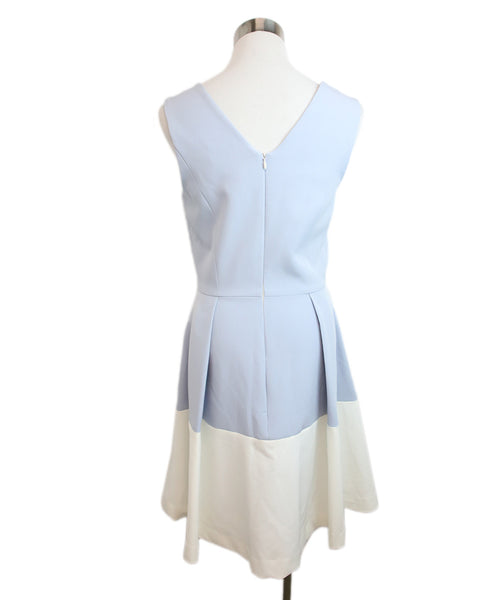 Milly Light Blue White Acetate Dress 3