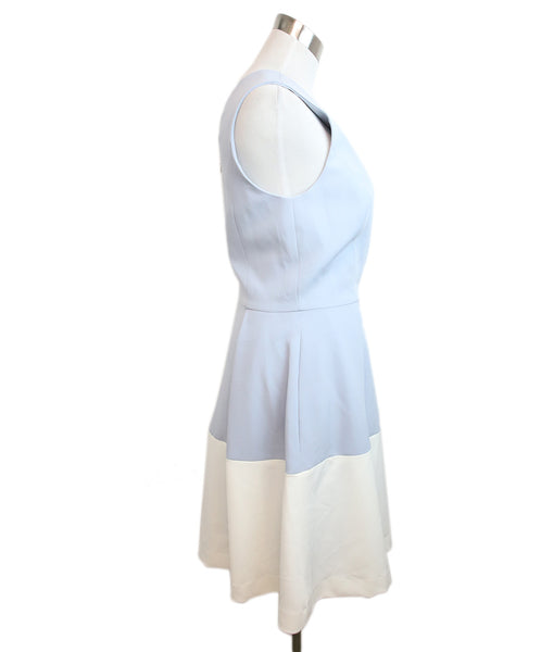 Milly Light Blue White Acetate Dress 2