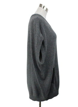 Milly Grey Wool Tunic with Black Leather Trim 2