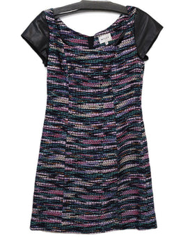 Milly Multi Purple Metallic Polyester Dress