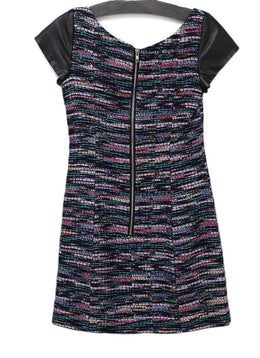 Milly Multi Purple Metallic Polyester Dress 1