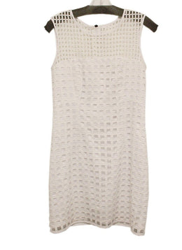 Milly White Cotton Cutwork Dress