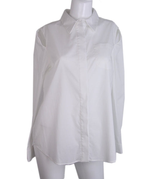 Milly White Cotton Shirt 1