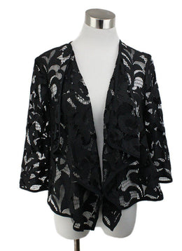 Milly Black Lace Cardigan 1